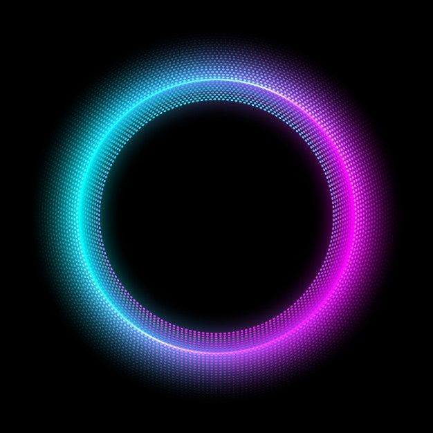 Neon Circle With Dots Light Effect Modern Round Frame With Empty Space Background Wallpaper For Photoshop Wallpaper Iphone Neon Red Background Images Neon background hd for editing