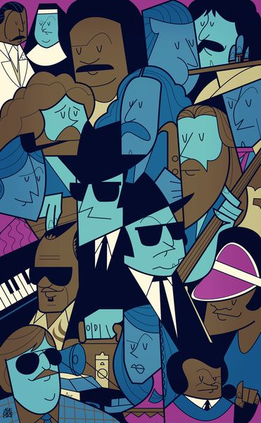 The Blues Brothers Art Print by Ale Giorgini  http://society6.com/product/The-Blues-Brothers-4hA_Print