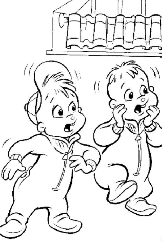 alvin chipmunks halloween coloring pages - photo#14