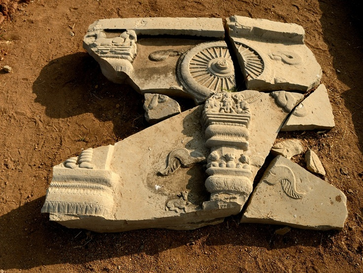 During subsequent excavations by Archaeological Survey of India(ASI)  and the State Archaeology Department, tablets, sculptures, and other terracotta items  were found, and most importantly numerous limestone panels  of sculptures of the ruined 'Maha Stupa' or Adholoka  Maha Chaitya (the Great Stupa of the Netherworld) were found.
