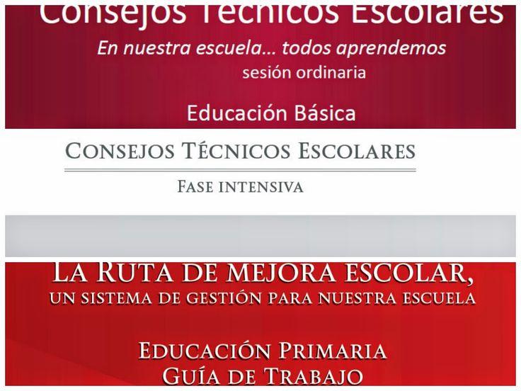 aLeXduv3: Consejos Técnicos Escolares (Todo lo publicado hasta hoy) Primaria
