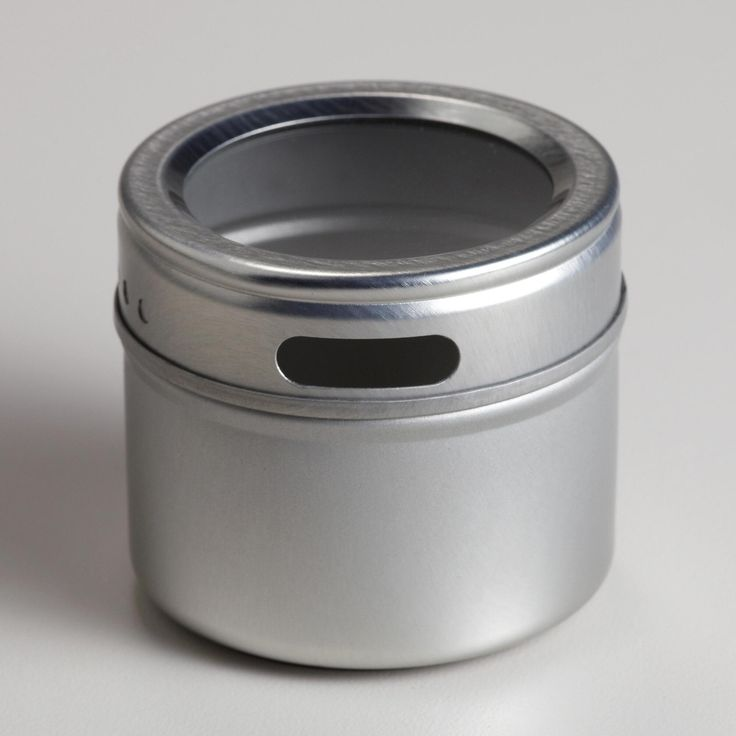 Ultra-modern and innovative ways to get organized, our Magnetic Storage Tins help you easily store spices in the kitchen or paperclips and tacks in the office. These five canisters feature magnetic bottoms that hold tight to a variety of metals. See-through, screw-on caps give you a clear view of the contents so you'll always know what you have!