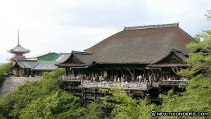 """On the list!    Kiyomizu Temple (749 – 1855) Kyoto, Japan  Laid out in 794 A.D., the palaces and temples of Kyoto were the residences of Japan's emperors and shoguns for more than 1,000 years. The Japanese Emperor is enthroned at the Kyoto Gosho (Imperial Palace). Among other significant works are the Higashi Honganji and Nishi Honganji temple complexes, the Kinkakuji Temple with its 'Golden Pavilion' and the Kiyomizu Temple, the temple of """"clear waters."""""""