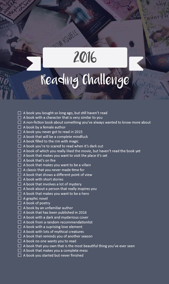 stxrybooks:  You can download the printablehereand I'd love to know what you guys end up reading so tag your progress with #stxrybooksreadingchallenge!