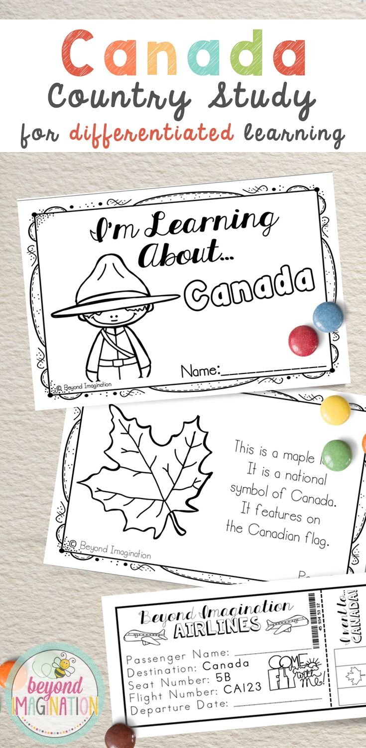 Travel to the country of Canada via the comfort of your own elementary classroom. Includes super fun boarding passes and postcards. This fun fact country study project is perfect to use for an around the world unit, an international day, an international festival, a social studies unit, a cultural school project, a geography project, a cultural day, a cultural fair, a field day, or a multicultural day. Find out more about how you can explore Canada with your students by clicking on the link!