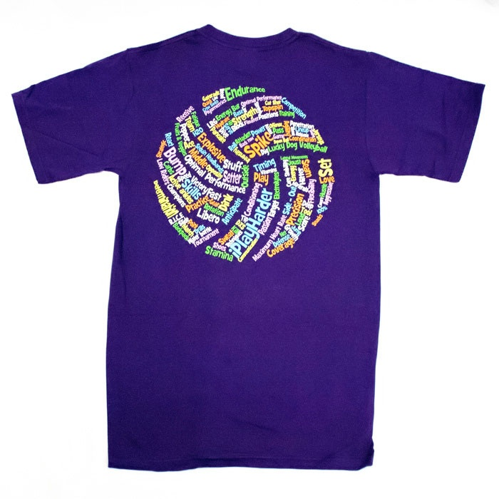 Volleyball words shirt short sleeve volleyball for Life is good volleyball t shirt