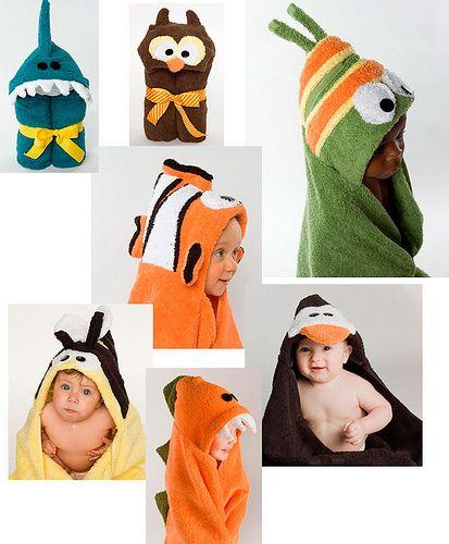 Capas de baño divertidas. Etsy.