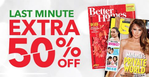 Get 50% off magazine subscriptions to Us Weekly, Shape, Family Circle, Martha Stewart Living and more!