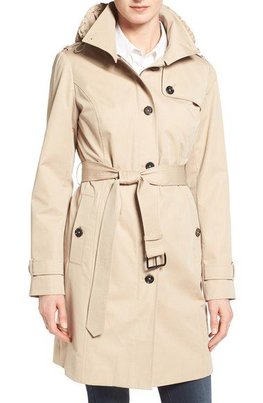 MICHAEL Michael Kors Hooded Trench Coat at Nordstrom