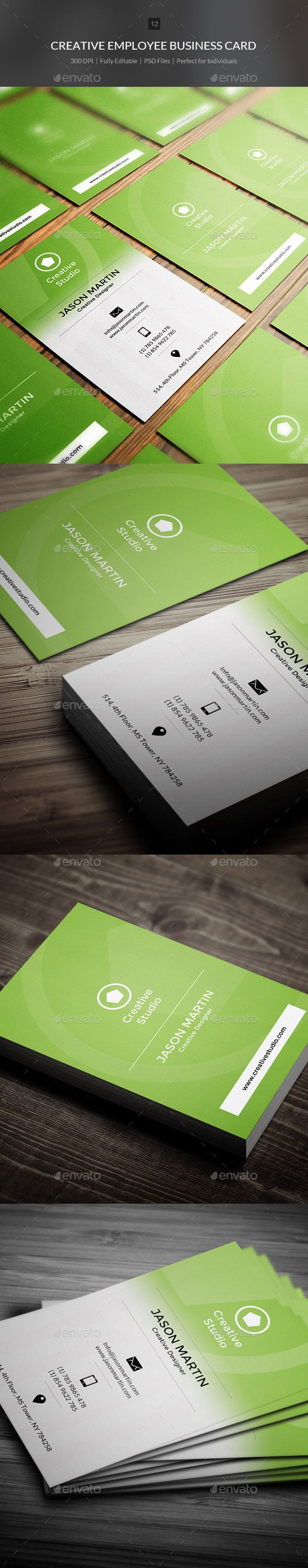 Creative Employee Business Card Template PSD | Buy and Download: http://graphicriver.net/item/creative-employee-business-card-12/9023406?WT.ac=category_thumb&WT.z_author=bouncy&ref=ksioks