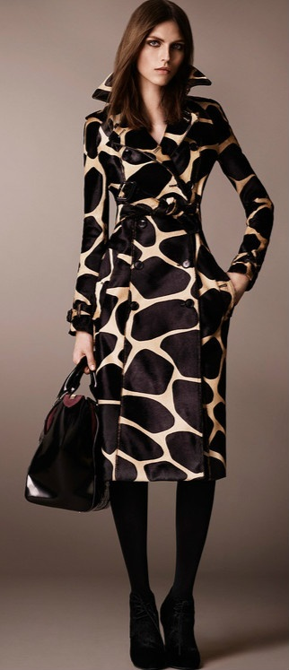 Burberry Prorsum: Animal Print Calfskin Trench Coat