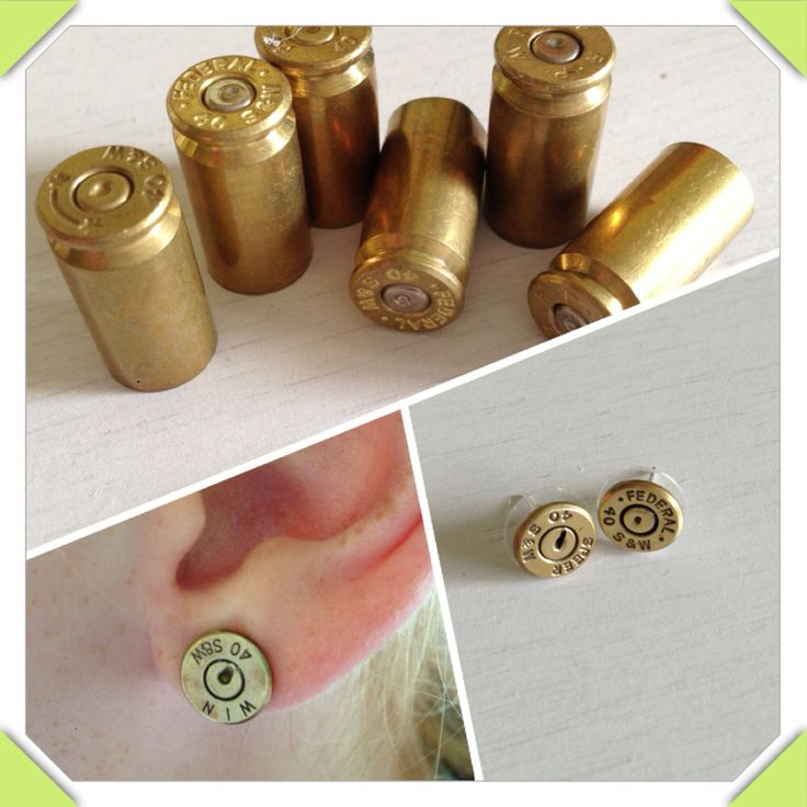 Bullet earrings..... Home made ..... Nailed it!!