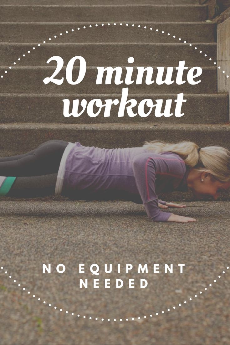 No equipment needed, do anywhere, 20 minute fat burning workout!