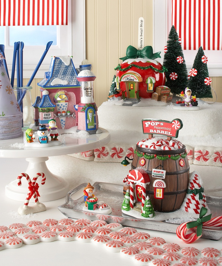 61 best Christmas Village  Train images on Pinterest Christmas - christmas town decorations