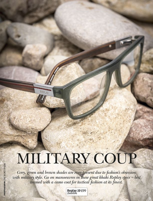 Add a military touch with these khaki glasses from Replay.
