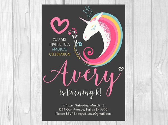 Printable Rainbow Birthday Invitations ~ Best colorful birthday party ideas images