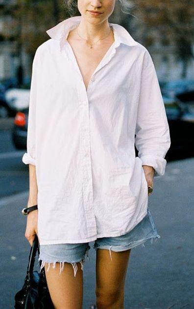 Forget boyfriend jeans, we're all about the boyfriend shirt. Shop oversized white button ups on shopstyle.com now.