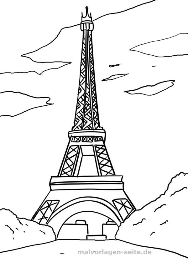 malvorlage eiffelturm paris  sehenswürdigkeiten