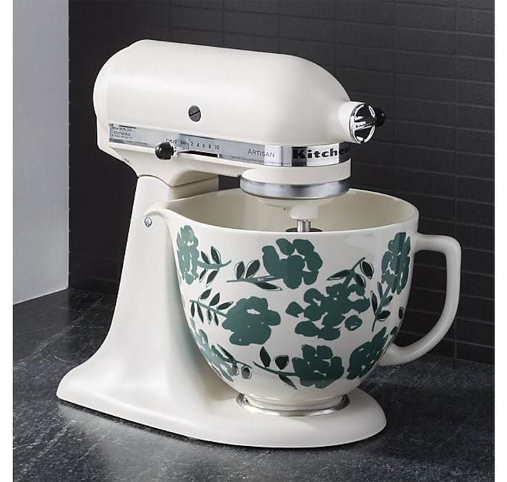 Kitchenaid 5quart flora ceramic bowl in 2020 kitchenaid