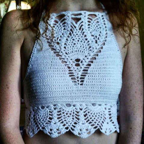 Top crop crochet homemade