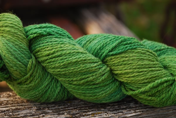 Grass colorway, 55% mountain merino™ 45% bulky silk 136yd/100g/3.5oz,