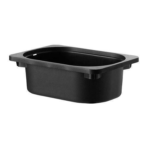IKEA - TROFAST, Kasse, svart, , Passer til stammene i TROFAST serie.Kan stables når du setter lokk på dem.