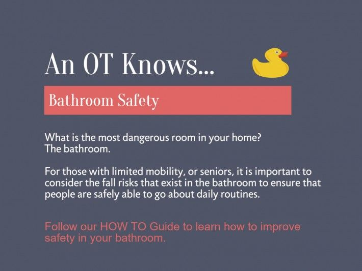 An OT Knows How To Improve Safety In The Bathroom