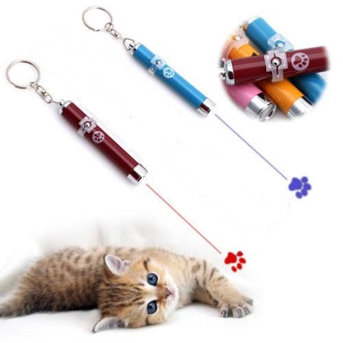 New Arrival Pet Cat Kitten Toy Laser Pointer LED Light Pen Torch Moving Footprint Chase Toy