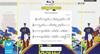 PARTITURAS A TU DISPOSICIÓN: YELLOW SUBMARINE (THE BEATLES)