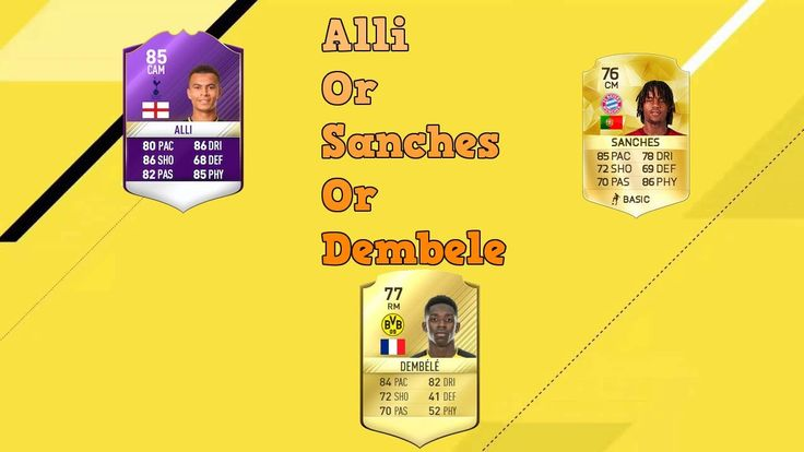 Dele Alli or Renato Sanches or Ousmane Dembele? I created this video with the YouTube Video Editor (http://www.youtube.com/editor) Like subscribe and L L Later