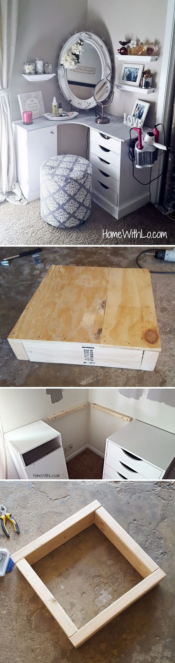 Check out the tutorial how to make a DIY plywood makeup vanity @istandarddesign