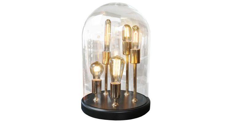 Lámpara globo con 5 bombillas filamento - Zacchary
