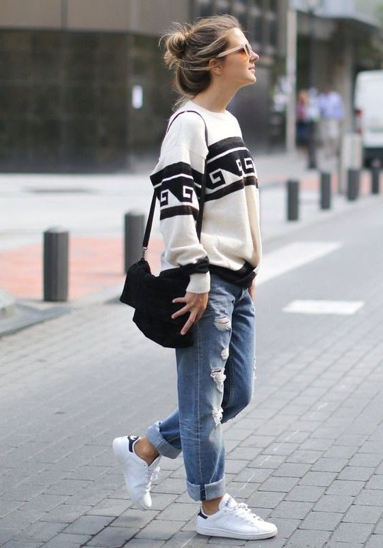 46c7cfa19d How To Wear Boyfriend Jeans - Outfit Ideas Boyfriend Jeans Outfit Ideas boyfriend  jeans outfit ideas you can follow right now!