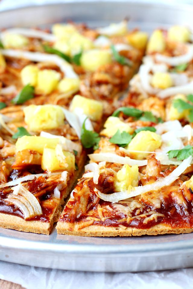 Copycat California Pizza Kitchen's Hawaiian BBQ California Pizza- super tasty and also super easy... perfect for Friday night dinners!