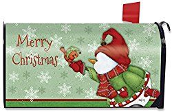 Merry Christmas Magnetic Mailbox Cover Snowman Cardinal