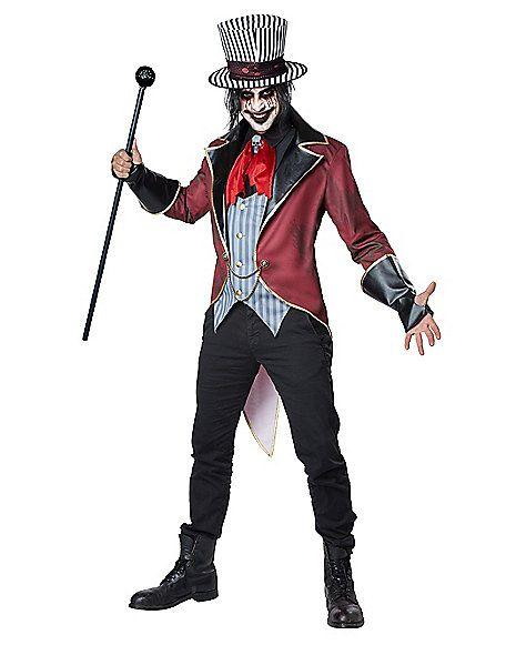 Adult Sinister Ringmaster Costume - Spirithalloween.com                                                                                                                                                     More