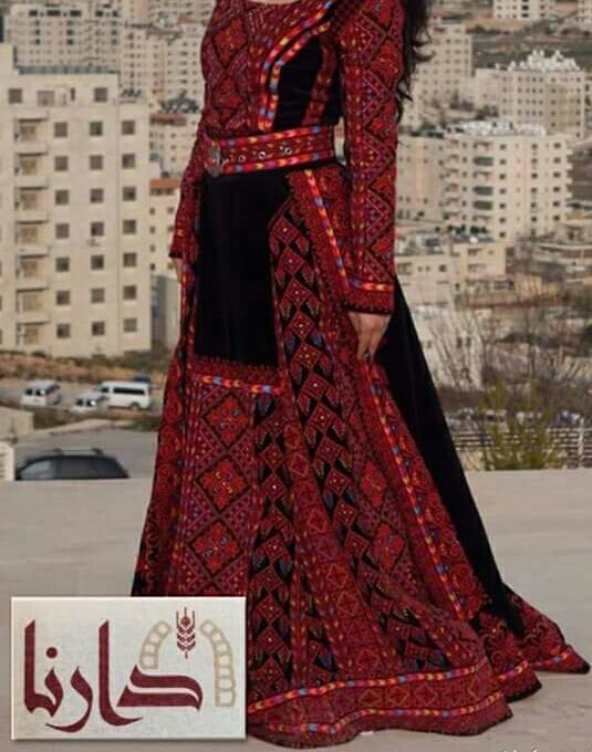Thobe black and red