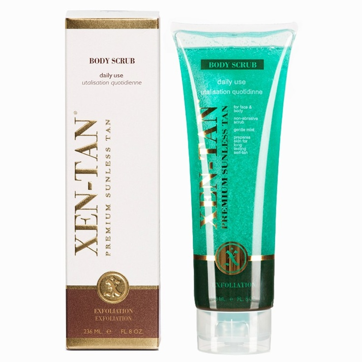 body scrub...the essential tanning companion; this removes dead skin cells and prepares the skin for tan application..shop online @www.xen-tan.co.za