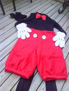 Happy Halloween DIY Make your own Mickey Mouse Costume. Mickey Mouse Costume DIY Mickey@Lillian the Domestic Engineer Shake yer...