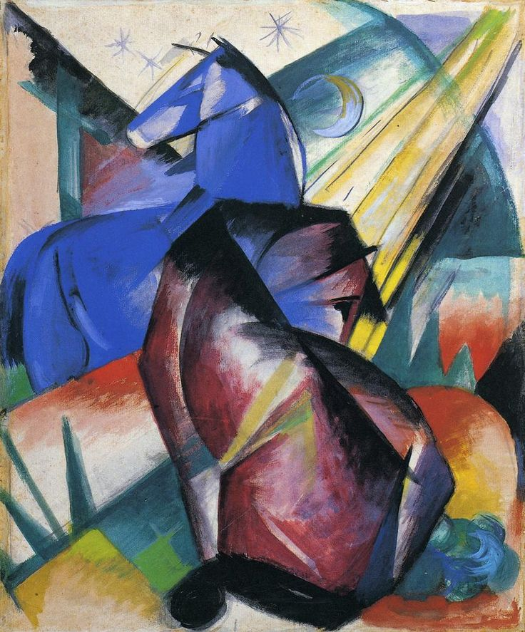 Franz Marc, Two Horses Red and Blue, 1912