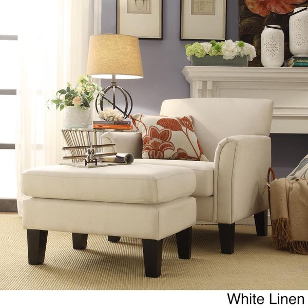 tribecca home uptown modern accent chair and ottoman - Uptown Modern Furniture Toronto