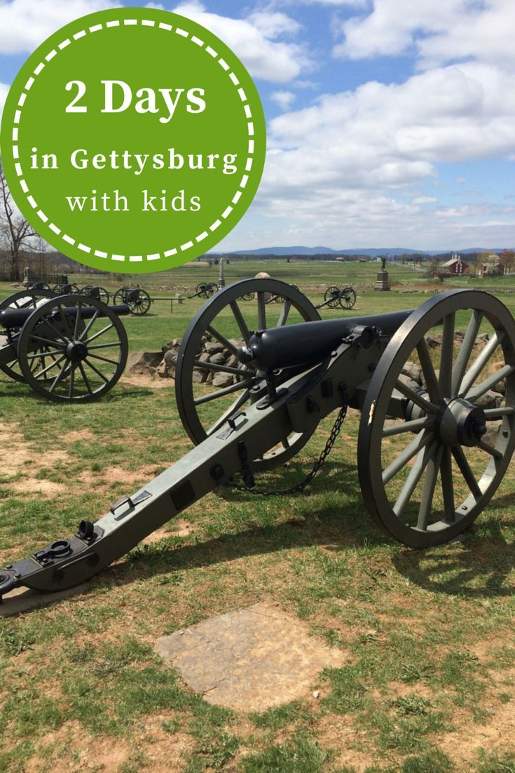 What to do with 2 days in Gettysburg PA with kids. It isn't just about the Battlefield!