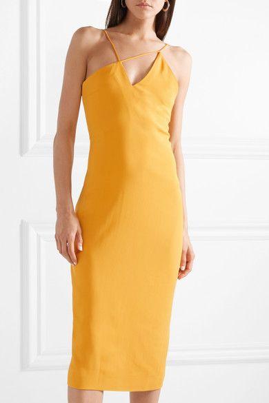 5184cddcaeac Cushnie et Ochs   Asymmetric stretch-crepe midi dress   NET-A-PORTER.COM