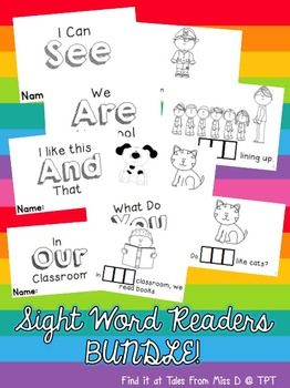 These Sight Word Readers can easily be incorporated into your guided reading groups. Students cut and unscramble the sight word before pasting it into their reader. The text consists of predictable sentences with pictures to support the sentences.
