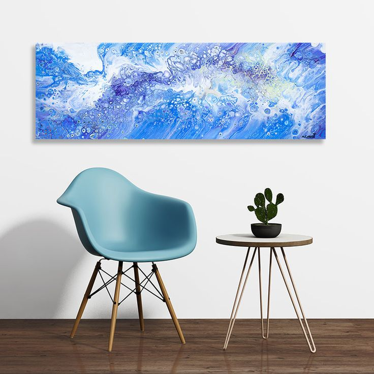 Galleri online abstrakt maleri til stuen Rough Sea I