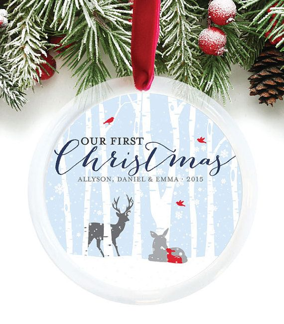 First Christmas Together Ornament, New Parents Ornament, Personalized Family Christmas Ornament, New Family Holiday Gift // C-P89-OR AA3