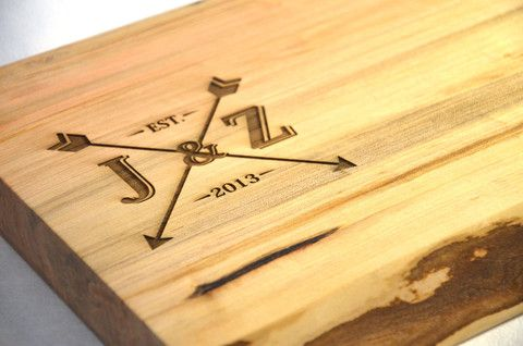 A laser engraved cutting board is a treasured gift for many years and many occasions!