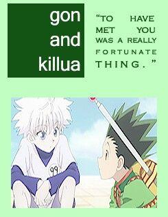 killua and gon relationship quotes