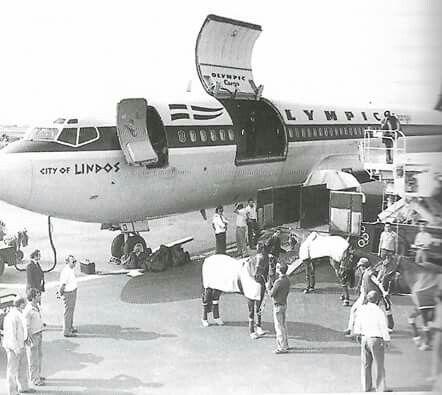 Ολυμπιακή αεροπορία...μεταφορά Αλόγων