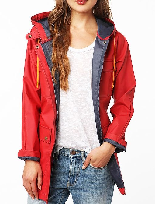 Lark & Wolff by Steven Alan Rain Jacket in Red